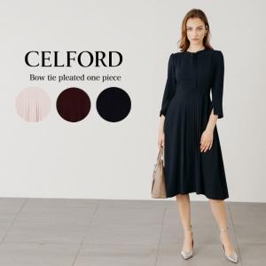 CELFORD  セルフォード ボウタイプリーツワンピース  ■素 材■ ポリエステル100%/裏地...
