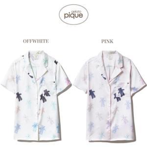 gelato pique ジェラートピケ 通販 テディベアサテンシャツ pwft192229/2019春夏 ジェラピケ パジャマ