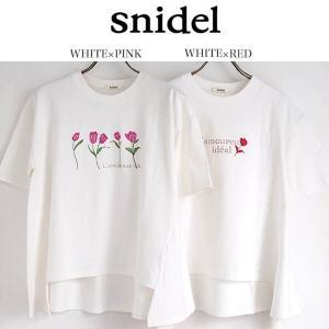 snidel スナイデル プリントTシャツ swct1811...