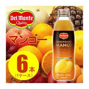 〔まとめ買い〕デルモンテ マンゴー 20% 瓶 750ml×6本(1ケース) selectshopsig