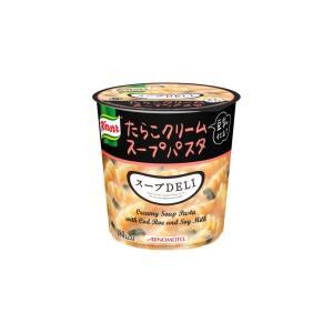 〔まとめ買い〕味の素 クノール スープDELI たらこクリームスープパスタ(豆乳仕立て) 44.7g×18カップ(6カップ×3ケース)|selectshopsig
