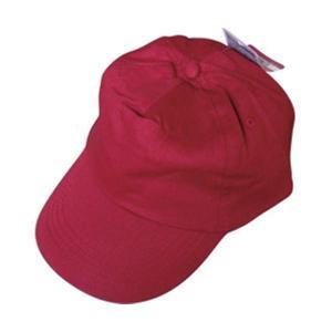 サイズ調整可能コットン帽子前立メッシュ付(エンジ) 45-802 〔12個セット〕|selectshopsig