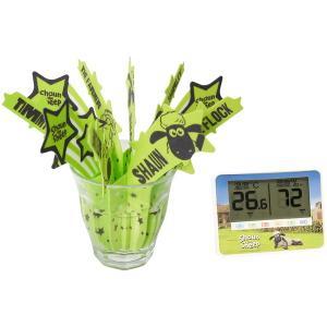ひつじのショーン 温湿度計/うるおいモイスチャー加湿器 セット|selectshopsig