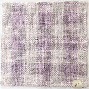 fuwa・fuwanoハンカチチェック 花紫|selectshopsig