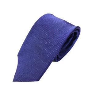 ネクタイ 水玉シリーズ 日本製シルク100% ネイビー×パープル|selectshopsig