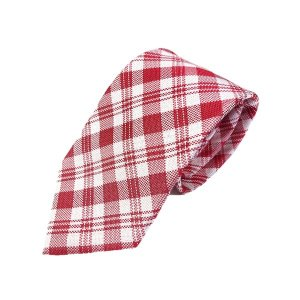 織りチェックシリーズ 日本製シルク100% ピンクレッド|selectshopsig