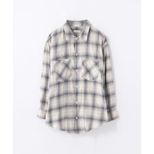 TOMORROWLAND / トゥモローランド ピーチオンブレーチェック ロングシャツ