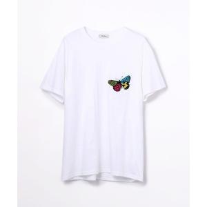TOMORROWLAND / トゥモローランド コットンジャージー 刺繍Tシャツ(BUTTERFLY)