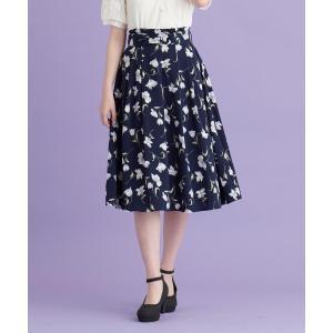 MAJESTIC LEGON / マジェスティックレゴン リングベルト付花柄スカート|selectsquare