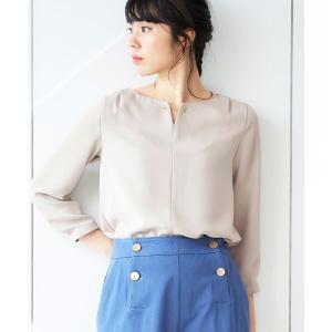 le.coeur blanc / ルクールブラン フロントメタルパーツブラウス|タカシマヤファッションスクエア