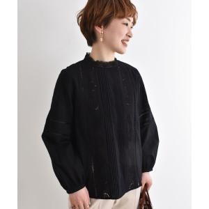 le.coeur blanc / ルクールブラン カットワークエンブロイダリーブラウス|タカシマヤファッションスクエア