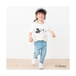 petit main / プティマイン DISNEY ミッキーマウスデザイン星アップリケTシャツ selectsquare