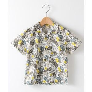 petit main / プティマイン 葉っぱ柄アロハシャツ selectsquare