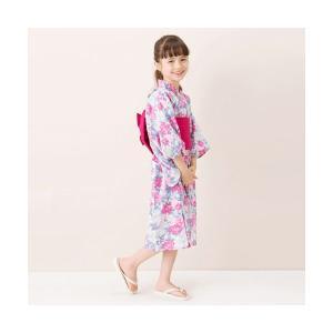 petit main / プティマイン 牡丹柄浴衣×帯セット selectsquare