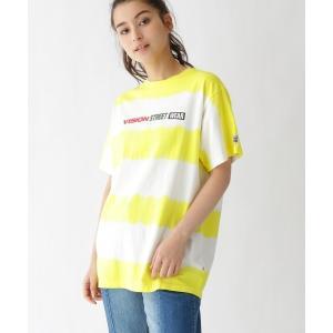 BASE STATION / ベースステーション Tシャツ VISION/ビジョン別注 ボーダータイダイTシャツ selectsquare