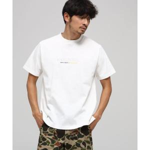 BASE STATION / ベースステーション 【WEB限定】 プリント+刺繍ロゴ 半袖Tシャツ|selectsquare