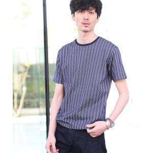 TAKEO KIKUCHI / タケオキクチ 五線譜ストライププルオーバーTシャツ [ メンズ Tシャツ ]|selectsquare