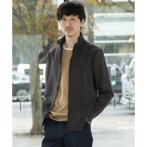 TAKEO KIKUCHI / タケオキクチ スタンドカラーツイルシャツ [ メンズ トップス シャツ ベーシック ブルゾン 羽織 スタンド 柄 無地 ]|selectsquare