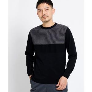 TAKEO KIKUCHI / タケオキクチ カラーブロッククルーネックニット[ メンズ ニット ボ...