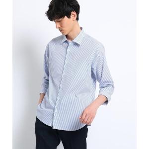 TAKEO KIKUCHI / タケオキクチ コットン ドビー 七分袖 シャツ