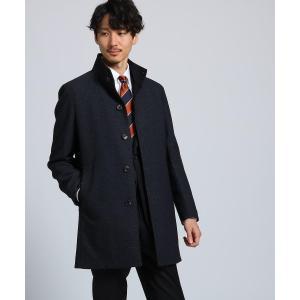 TAKEO KIKUCHI / タケオキクチ メランジ小紋スタンドカラーコート ダウンライナー付き