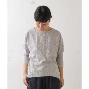 BEARDSLEY / ビアズリー フロント刺繍カットソー|selectsquare