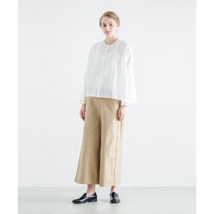 MARcourt / マーコート mizuiro ind ピンタックノーカラーワイドシャツ|タカシマヤファッションスクエア