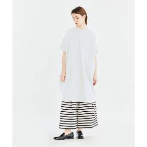 MARcourt / マーコート mizuiro ind クルーネックロールスリーブワイドワンピース|タカシマヤファッションスクエア