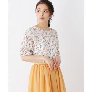 grove / グローブ 袖シャーリング花柄ブラウス|selectsquare