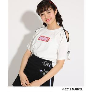 PINK-latte / ピンク ラテ 【MARVEL】袖あき Tシャツ selectsquare