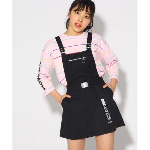 PINK-latte / ピンク ラテ ★ニコラ掲載★ベルト付ジャンパースカート selectsquare