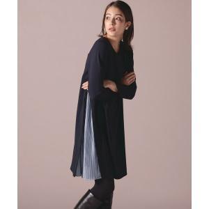 Ketty Cherie / ケティ シェリー ダブルクロスプリーツ加工サテンワンピース|タカシマヤファッションスクエア