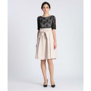 ef-de / エフデ 《Maglie Black》レースドッキングドレス|タカシマヤファッションスクエア