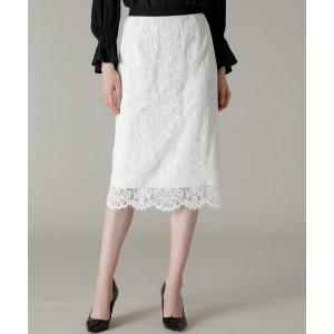 ef-de / エフデ 《Maglie WHITE》コードレースタイトスカート|タカシマヤファッションスクエア