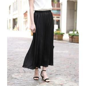 ef-de L / エフデ(エルサイズ) 《大きいサイズ》サテンプリーツスカート 《Maglie par ef-de》|タカシマヤファッションスクエア