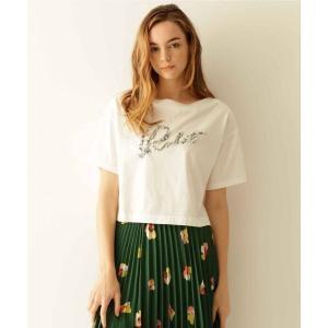 GRACE CONTINENTAL / グレースコンチネンタル ビーズ刺繍ロゴTシャツ|selectsquare