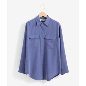 NIMES / ニーム テンセルピーチオーバーワークシャツ|タカシマヤファッションスクエア