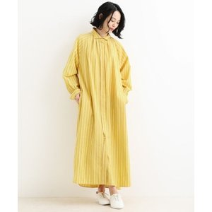 NIMES / ニーム Washer Stripe ワイドカラーワンピース|タカシマヤファッションスクエア