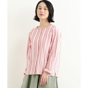 NIMES / ニーム pink et rayure スクエアネックブラウス|タカシマヤファッションスクエア