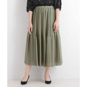 NIMES / ニーム スパンボイル/ドット 切替プリーツスカート|タカシマヤファッションスクエア