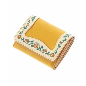 Jocomomola / ホコモモラ 鳥とお花 額縁デザイン二つ折り財布|タカシマヤファッションスクエア