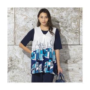 Liliane Burty / リリアンビューティ 幾何バックカットジャカード カットソーベスト|タカシマヤファッションスクエア
