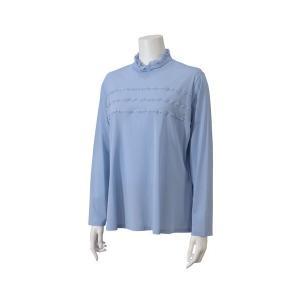 Liliane Burty / リリアンビューティ パウダーチュール フリルハイネックTシャツ 【大きいサイズ】|タカシマヤファッションスクエア