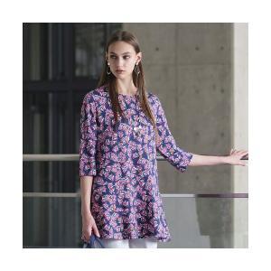 Liliane Burty / リリアンビューティ イタリア製素材 オプティカルプリント チュニックTシャツ|タカシマヤファッションスクエア