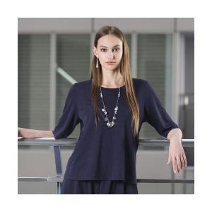 Liliane Burty / リリアンビューティ ストレッチジャージ プルオーバーTシャツ【セットアップ可】|タカシマヤファッションスクエア