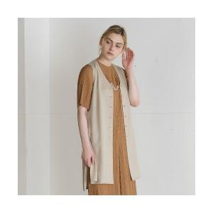 Liliane Burty ECLAT / リリアンビューティ エクラ 麻ライクトリアセ ロングベスト|タカシマヤファッションスクエア