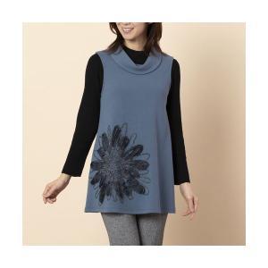LOBJIE / ロブジェ ビッグフラワー刺繍ロングベスト|タカシマヤファッションスクエア