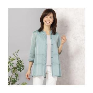 LOBJIE / ロブジェ ティアード切り替えシアーロングシャツ|タカシマヤファッションスクエア