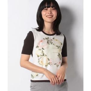 MADAM JOCONDE / マダムジョコンダ ANA フラワープリント 布帛使いニットプルオーバー|タカシマヤファッションスクエア