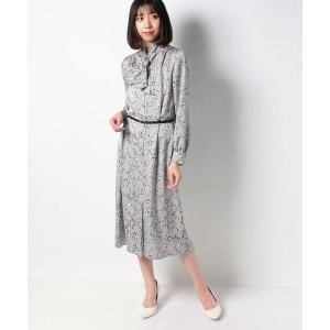 LAPINE BLANCHE / ラピーヌ ブランシュ アニマル幾何柄 サテンプリントドレス|タカシマヤファッションスクエア